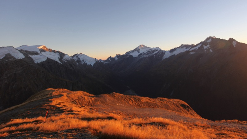 Mt Aspiring Lit Up by the Morning Light