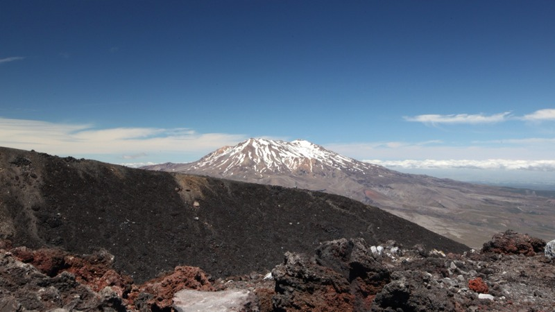 Mt Ruapehu Volcano in the Distance