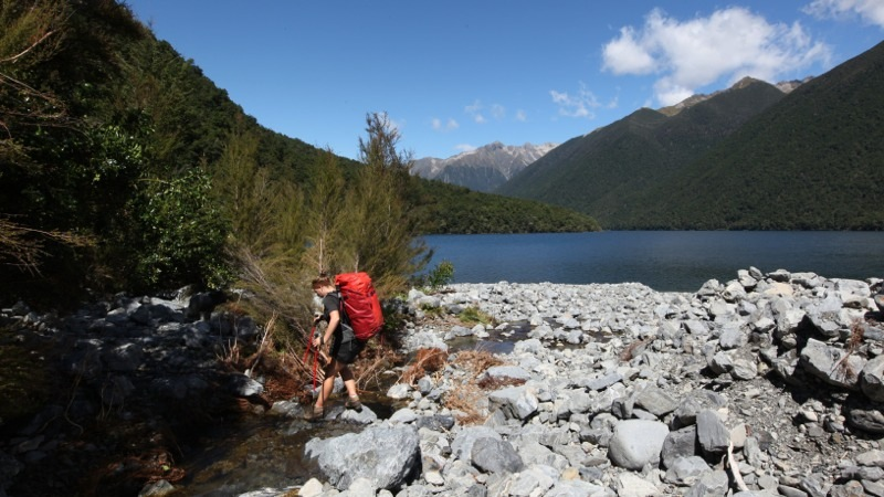Walking around Lake Rotoiti