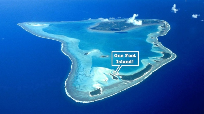 Ariel photo of Aitutaki Lagoon