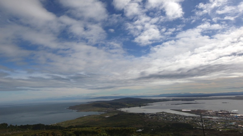 View over Bluff and the South Island Beyond