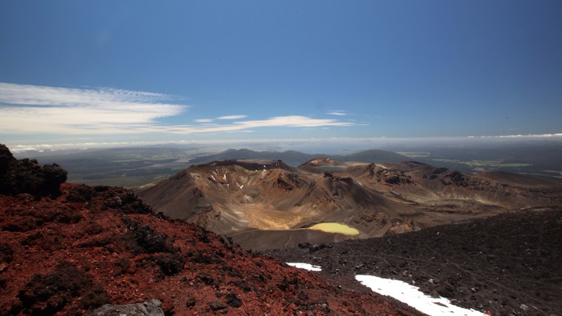 The View Over Tongariro National Park