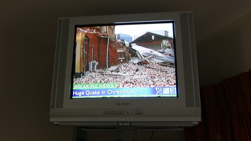 Christchurch Earthquake on TV