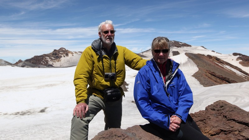 Mum and Dad on the Top of Mount Ruapehu