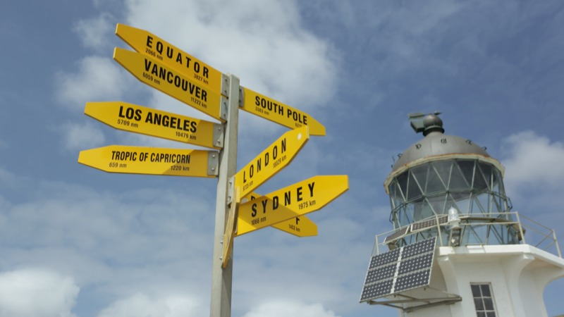 The famous signpost & Cape Reinga Lighthouse