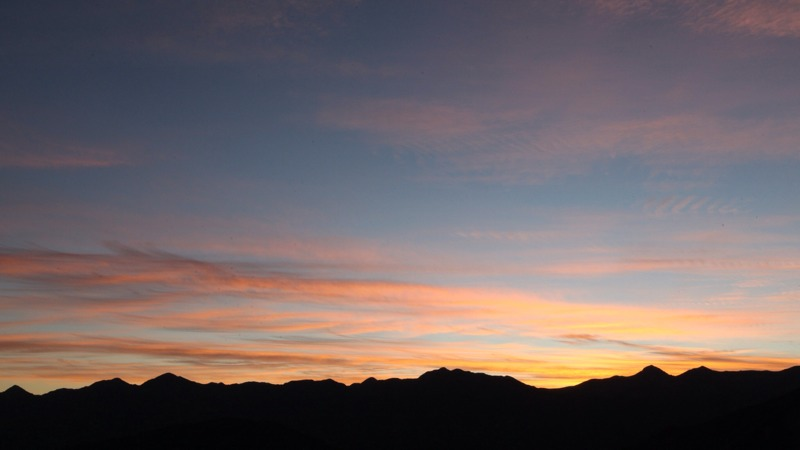 Sun Rising Behind the Silhouette of the Tararua Range