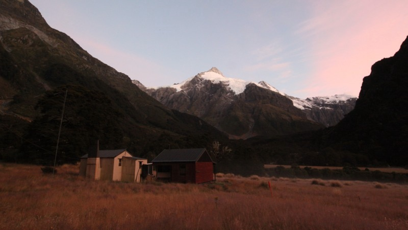 Dawn at Top Forks Hut